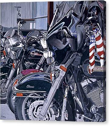Riding With The Colors Canvas Print by Patricio Lazen