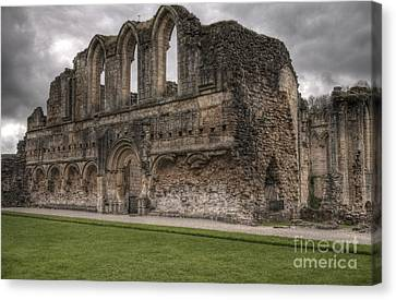 Rievaux Abbey Canvas Print by David  Hollingworth