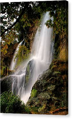 Canvas Print featuring the photograph Rifle Falls by Priscilla Burgers