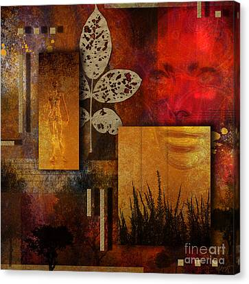 Canvas Print featuring the digital art Rift by Nola Lee Kelsey