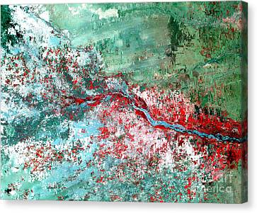 Rift Valley Flooding Landsat 2000 Canvas Print by Science Source