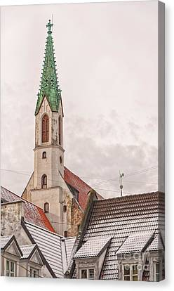 Medieval Temple Canvas Print - Riga St Johns Church by Antony McAulay