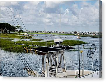Rigged And Ready Canvas Print by Ed Waldrop