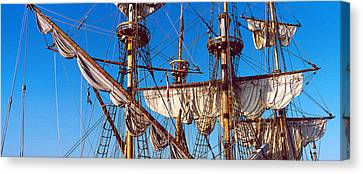 Tall Ship Image Canvas Print - Rigging Of A Tall Ship, Finistere by Panoramic Images
