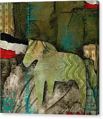 Mixed Media On Canvas Print - Right As Rain by Laura  Lein-Svencner