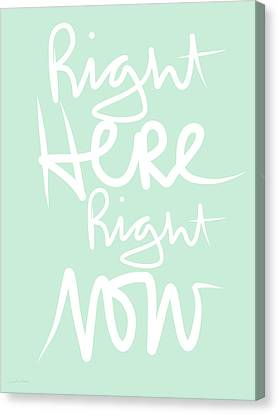 Right Here Right Now Canvas Print