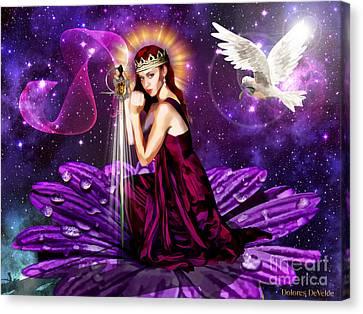 Righteous Warrior Bride Canvas Print