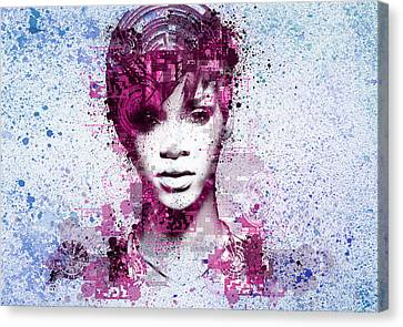 Rihanna Canvas Print - Rihanna 8 by Bekim Art
