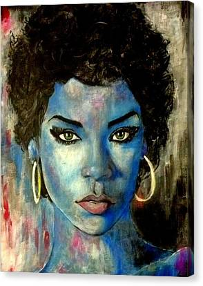 Blue Lady Canvas Print by Christopher Brown