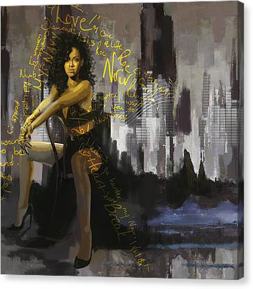 Rihanna Canvas Print by Corporate Art Task Force
