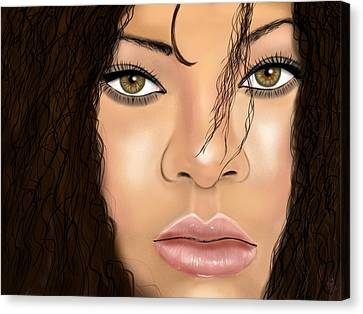 Rihanna Canvas Print by Mathieu Lalonde