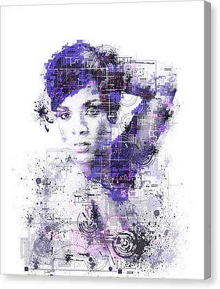 Rihanna Canvas Print - Rihanna by Bekim Art