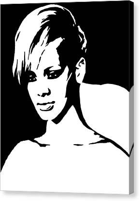 Rihanna Canvas Print by Monofaces