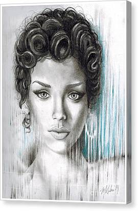 Rihanna Canvas Print by Montana Adams