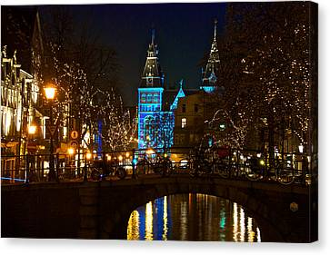 Rijksmuseum At Night Canvas Print by Jonah  Anderson