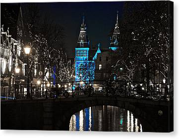 Rijksmuseum In Blue Canvas Print by Jonah  Anderson