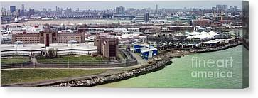 Rikers Island Jail - New York City Department Of Correction Canvas Print by David Oppenheimer