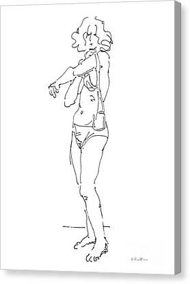 Sexy Women Canvas Print - Rikka Dressing 4of8 by Gordon Punt