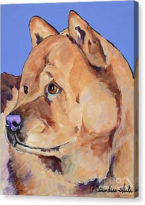 Working Dog Canvas Print - Riley by Pat Saunders-White