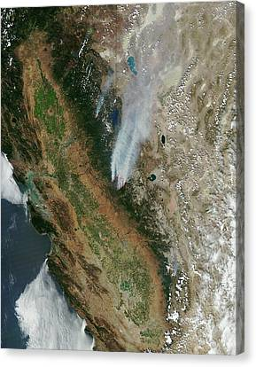 Wildfires Canvas Print - Rim Fire by Nasa