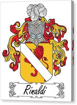 Rinaldi Coat Of Arms Di Palermo Canvas Print