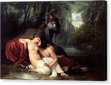 Rinaldo And Amida Canvas Print by Francesco Hayez