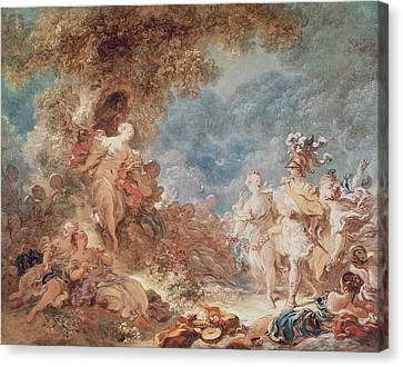 Rinaldo In The Gardens Of Armida Oil On Canvas See Also 250309 Canvas Print by Jean-Honore Fragonard