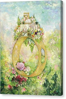 Ring And Rose Canvas Print by Michoel Muchnik