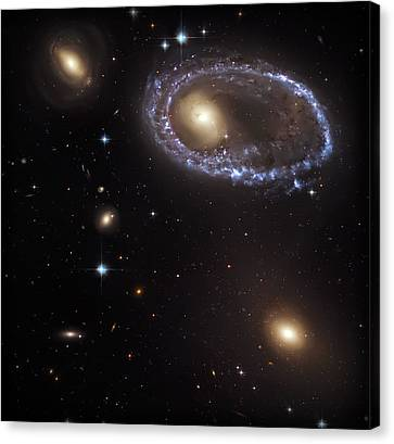 Ring Galaxy Canvas Print by Jennifer Rondinelli Reilly - Fine Art Photography