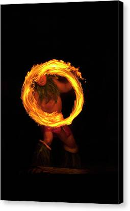 Ring Of Fire Canvas Print by Mike  Dawson