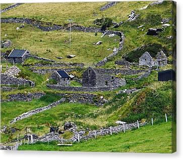 Ring Of Kerry Irish Stone Canvas Print