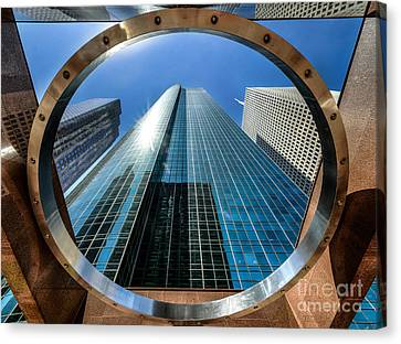 Ring Of Trust - Wells Fargo Plaza Canvas Print by Dee Zunker