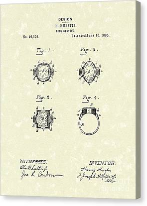 Jewels Canvas Print - Ring Setting 1885 Patent Art by Prior Art Design