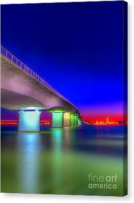 Ringling Bridge Canvas Print by Marvin Spates