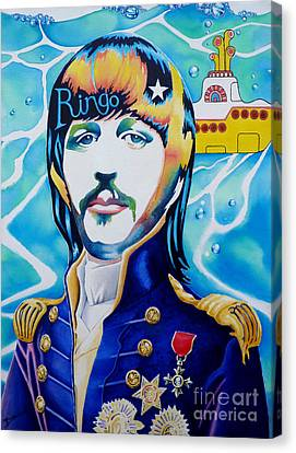 Ringo Canvas Print by Debbie  Diamond