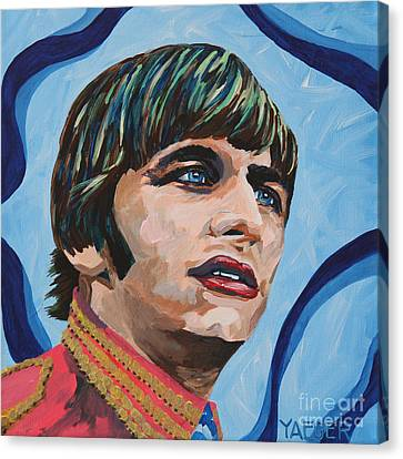 Ringo Starr Portrait Canvas Print by Robert Yaeger