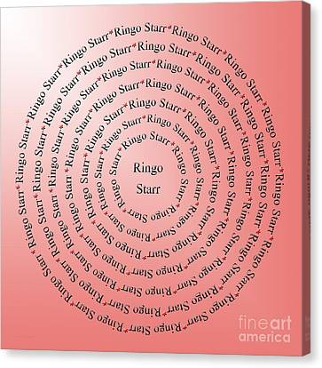 Ringo Starr Typography Canvas Print by Andee Design
