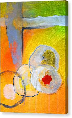 Rings Abstract Canvas Print by Nancy Merkle