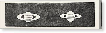 Rings And Ball Of Saturn Canvas Print by English School