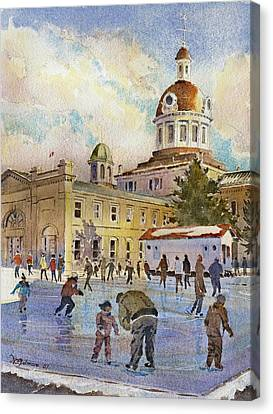 Rink At Kingston Market Square Canvas Print