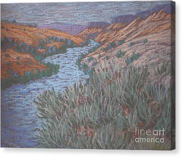 Canvas Print featuring the painting Rio Azul by Suzanne McKay