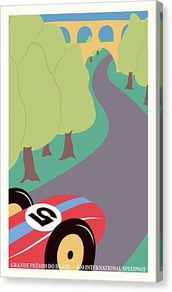 Rio Brazil Grand Prix Canvas Print by Georgia Fowler