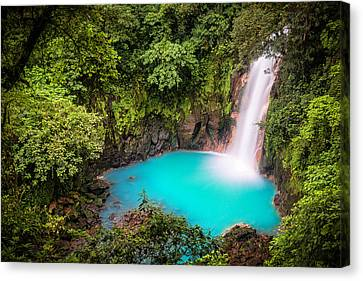 Rio Celeste Waterfall Canvas Print by Andres Leon
