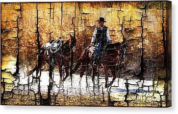 Rio Cowboy With Horses  Canvas Print