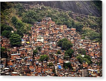 Rio De Janeiro Brazil - Favela Canvas Print by Jon Berghoff