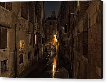 Canvas Print featuring the photograph Rio Della Verona by Marion Galt