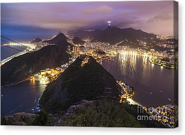 Rio Evening Cityscape Panorama Canvas Print