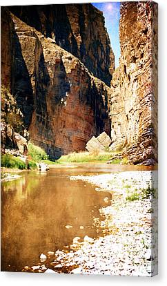 Rio Grande At Santa Elena Canyon Canvas Print by Judy Hall-Folde