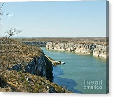 Canvas Print featuring the photograph Rio Grande by Erika Weber