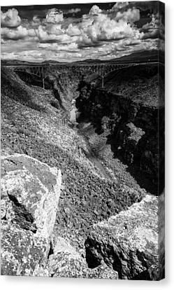 Rio Grande Gorge - Taos New Mexico Canvas Print by Silvio Ligutti